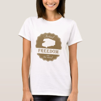 T-shirt Liberté totale sur la rétro goupille de route