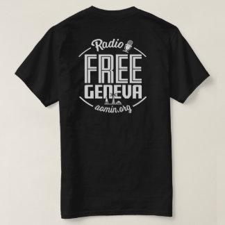 T-shirt libre par radio de Genève (noir)
