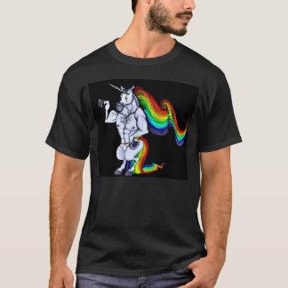 T-shirt Licorne de couleur chamois