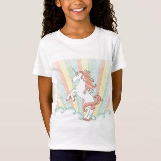 T-Shirt Licorne en pastel d'arc-en-ciel