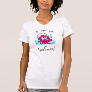 "T-shirt Licorne ""Je peux pas, j'ai aquaponey!"""