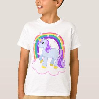 T-shirt Licorne magique mignonne avec l'arc-en-ciel