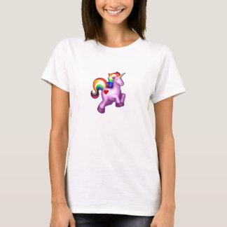 T-shirt Licorne scintillante d'arc-en-ciel de bonheur