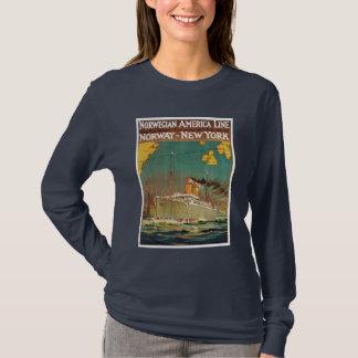 T-shirt Ligne américaine norvégienne