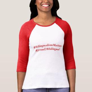T-shirt Ligne bilingue de fierté (T-shirt adulte)
