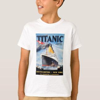 T-shirt Ligne blanche titanique d'étoile - le plus grand