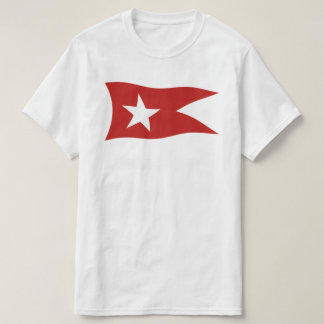 T-shirt Ligne blanche titanique drapeau d'étoile avec