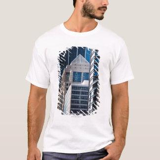 T-shirt Ligne Chicago en verre de gratte-ciel financière