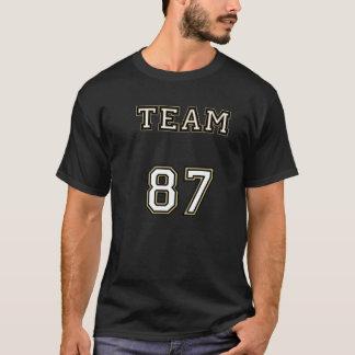 T-shirt Ligne noire de l'équipe 87