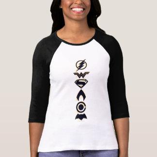 T-shirt Ligne stylisée de symboles d'équipe de la ligue de