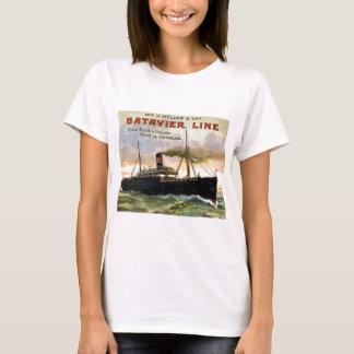 T-shirt Ligne voyage vintage de Batavier