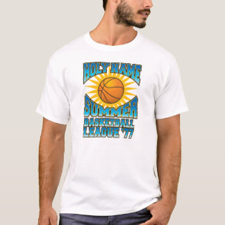 T-shirt Ligue de basket-ball nommée sainte d'été '77