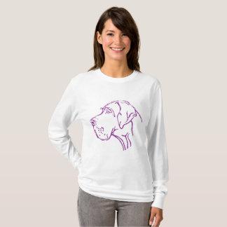 T-shirt Lilas dogue allemand