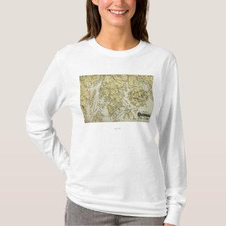 T-shirt L'Île déserte de bâti et la côte de la carte du