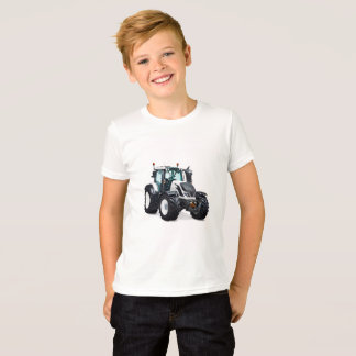 T-shirt L'image de tracteur pour les enfants affinent le