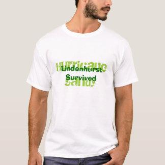 T-shirt Lindenhurst a survécu à l'ouragan Sandy