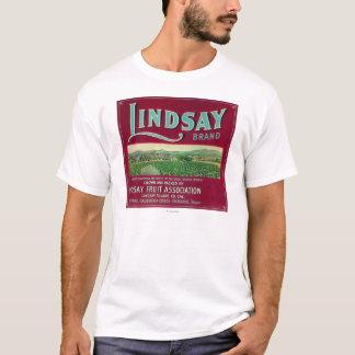 T-shirt Lindsay LabelLindsay orange, CA