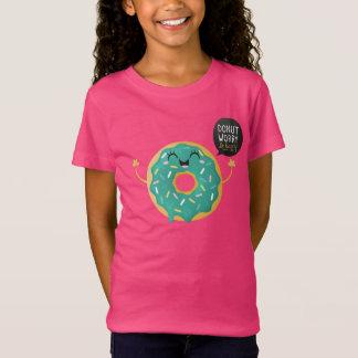T-Shirt L'inquiétude mignonne de beignet de chemise rose