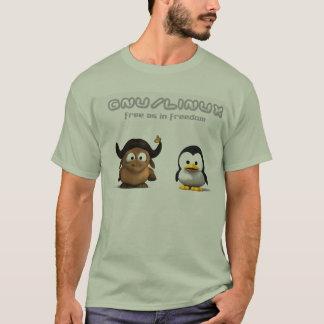 T-shirt Linux de gnou de NuJumah