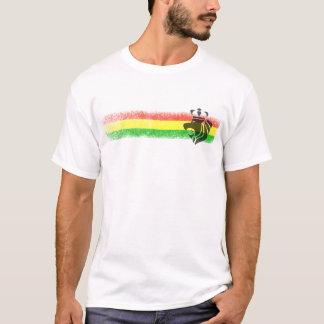 T-shirt Lion couronné par reggae de Rasta