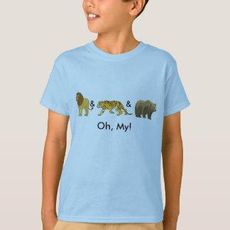 T-shirt Lions et tigres et ours, oh, mes !