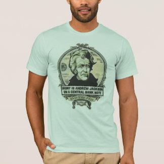 T-shirt L'ironie est Jackson sur une chemise centrale de