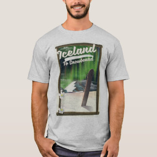 T-shirt L'Islande à faire du surf des neiges