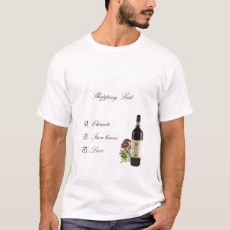 T-shirt Liste d'achats