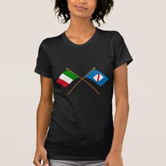 T-shirt L'Italie et les drapeaux croisés par Campanie