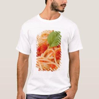 T-shirt L'Italie, Orta, lac Orta, spaghetti avec la tomate
