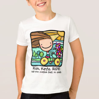 T-shirt LittleGirlie. Monte librement ! Bike.Personalized.