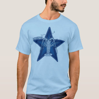 T-shirt Lobstar deux sur le bleu