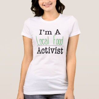 T-shirt local d'activiste de nourriture