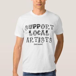 T-shirt local d'artistes de soutien