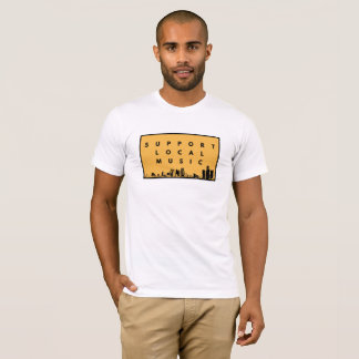 T-shirt local de musique de soutien