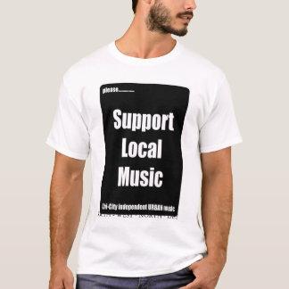 T-shirt local de musique de soutien de