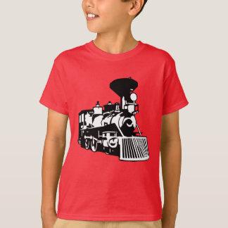 T-shirt locomotive de train de vapeur
