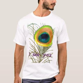 T-shirt l'oeil 1 de paon, je vous vois