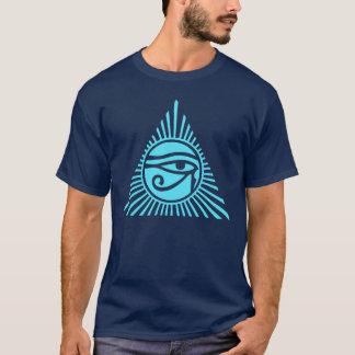 T-shirt L'oeil de Horus dans Sun rayonne la pyramide