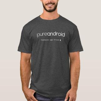 T-shirt L'OEM androïde pur de Fastboot ouvrent le gris