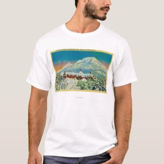 T-shirt Loge de Timberline en hiver au capot de Mt.