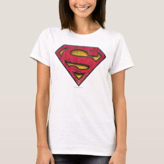 T-shirt Logo affligé par | de S-Bouclier de Superman