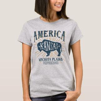 T-shirt Logo americana vintage de bison de Wichita le