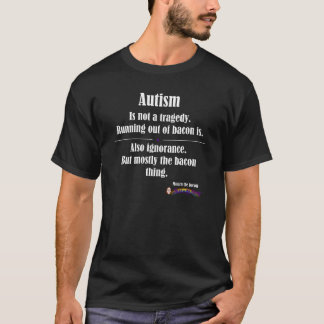 T-shirt logo avant foncé de tragédie de lard d'autisme