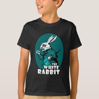 T-shirt Logo blanc Teal de lapin
