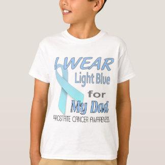 T-shirt Logo bleu-clair de conscience de ruban de cancer