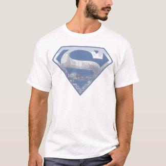 T-shirt Logo bleu-clair de ville du S-Bouclier | de