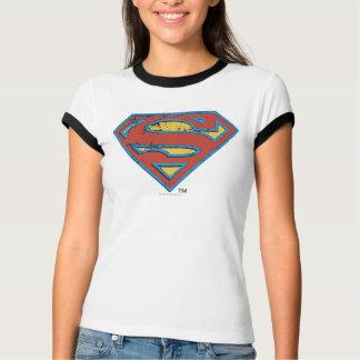 T-shirt Logo bleu de grunge d'ensemble du S-Bouclier | de
