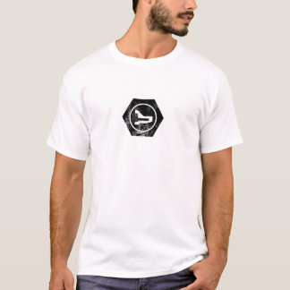 T-shirt logo boulonné