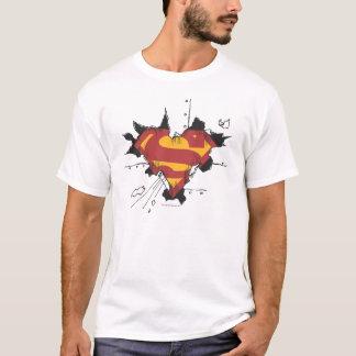 T-shirt Logo cassé en métal du S-Bouclier | de Superman